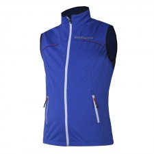 Soft shell vest Flow in motion, blue