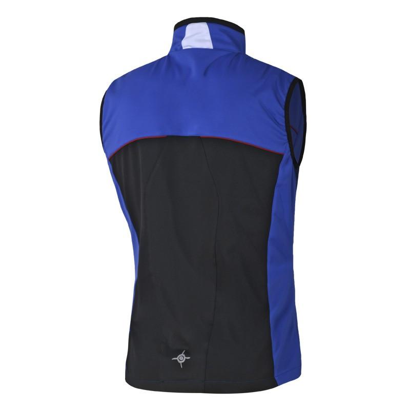 Soft shell vest Flow in motion, blue