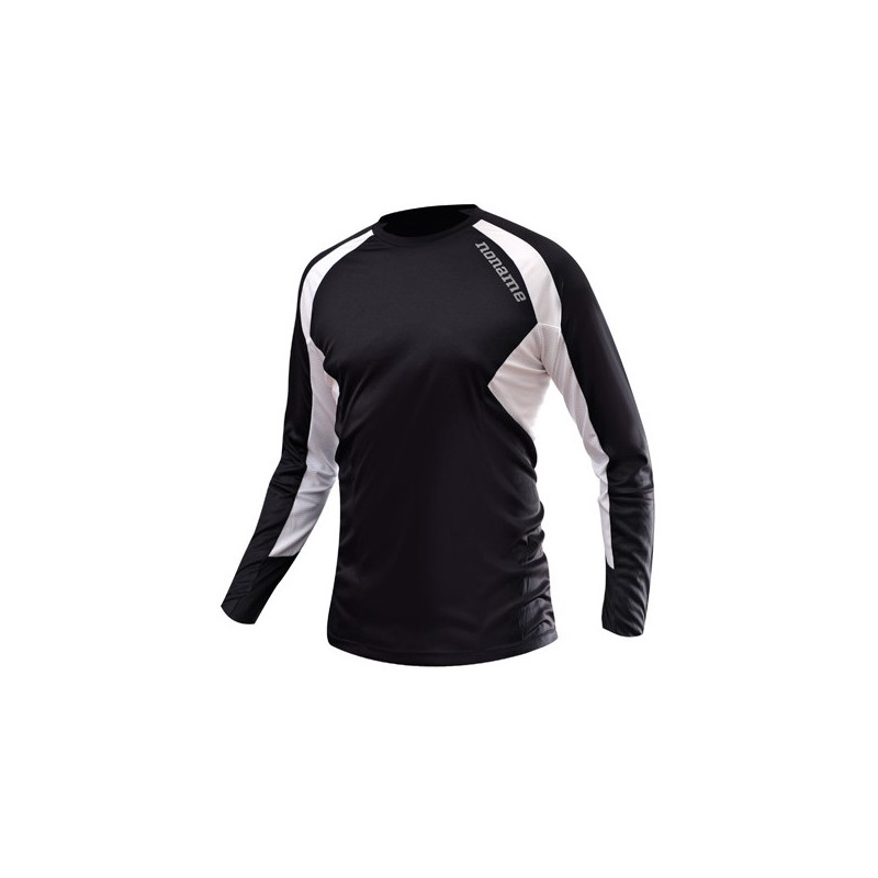 Echo Long Sleeve Shirt Unisex, Black/White
