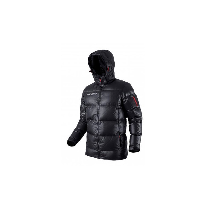 heavy puffy down jacket unisex black
