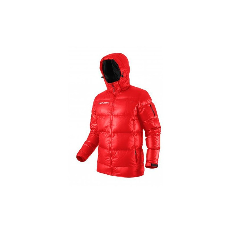 heavy puffy down jacket unisex red