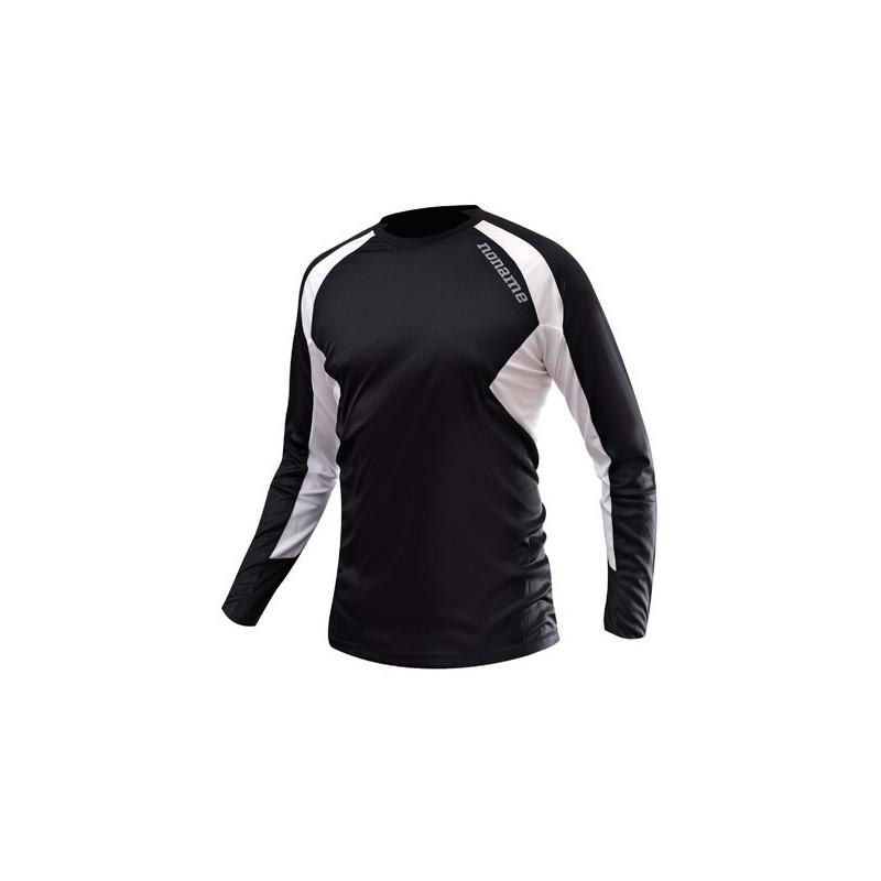 Echo Long Sleeve Shirt Unisex, Svart/vit