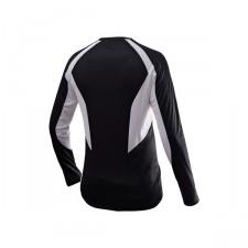 Echo Long Sleeve Shirt Unisex, Musta/Valkoinen