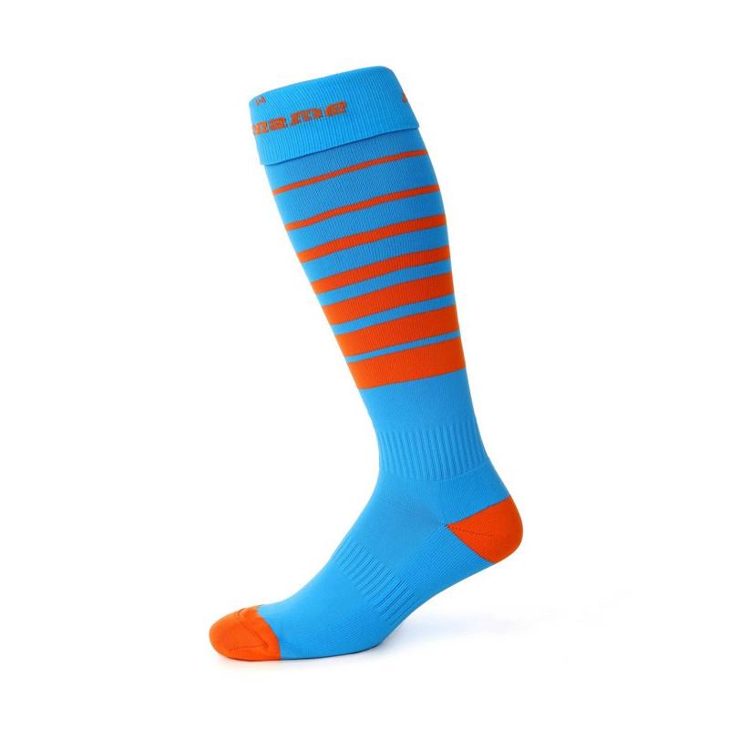 Orienteringsstrumpor, ljusblå/orange