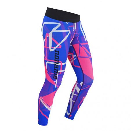 Fitness tights, Blue/violet/pink