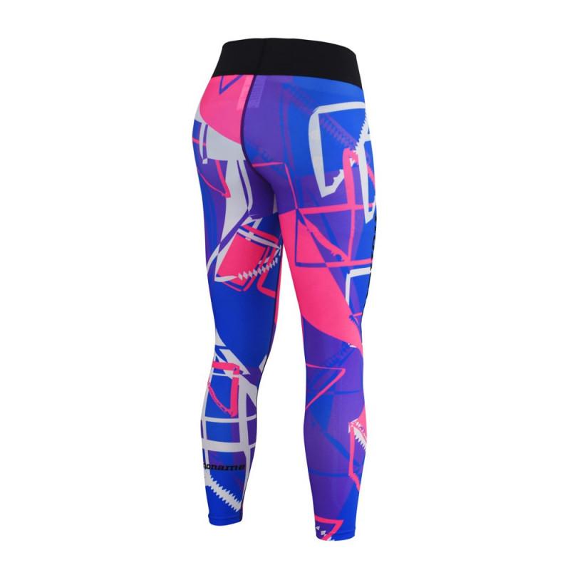 Fitness trikoot, Sininen/violetti/pinkki